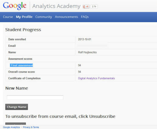 Google Analytics Academy - Digital Analytics Fundamentals 2013