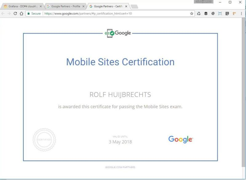 Google Partners - Certification Mobile sites 2017